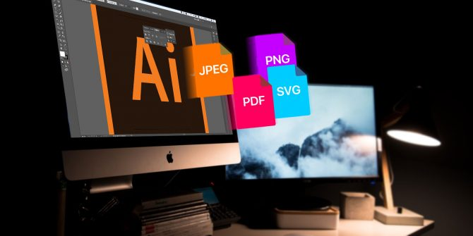 como guardar archivos adobe illustrator
